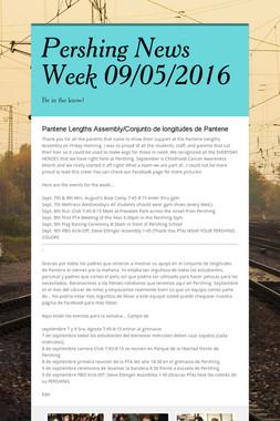 Pershing News  Week 09/05/2016