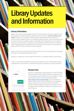 Library Updates and Information