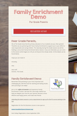 Family Enrichment Demo