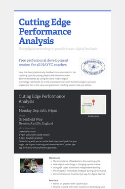 Cutting Edge Performance Analysis
