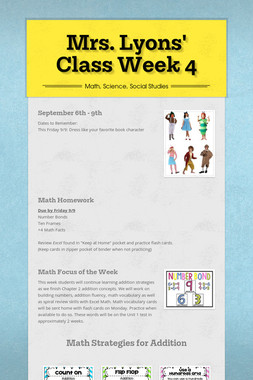 Mrs. Lyons' Class Week 4