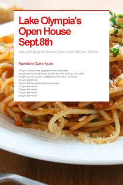 Lake Olympia's Open House Sept.8th