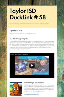 Taylor ISD DuckLink # 58