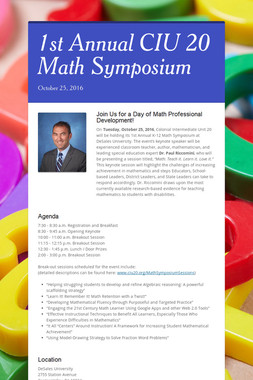 1st Annual CIU 20 Math Symposium