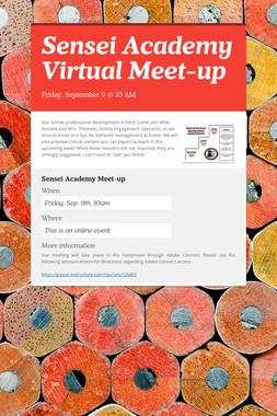 Sensei Academy Virtual Meet-up