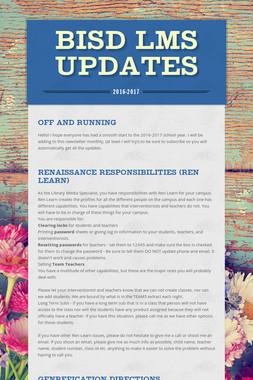 BISD LMS Updates