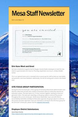 Mesa Staff Newsletter