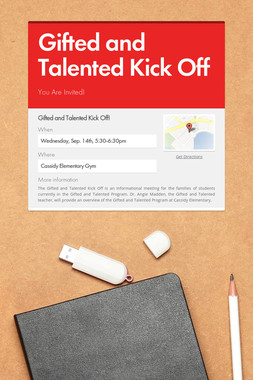 Gifted and Talented Kick Off