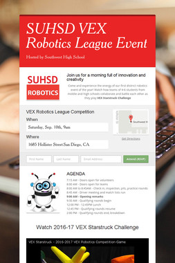 SUHSD VEX Robotics League Event