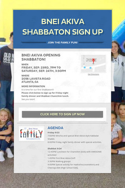 Bnei Akiva Shabbaton Sign Up