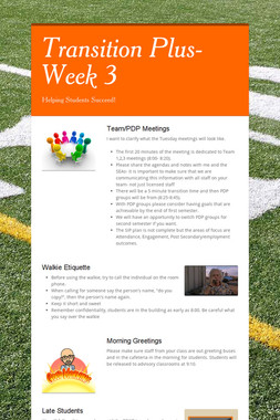 Transition Plus- Week 3