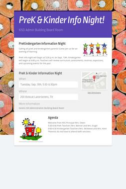PreK & Kinder Info Night!