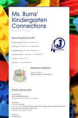 Ms. Burns' Kindergarten Connections