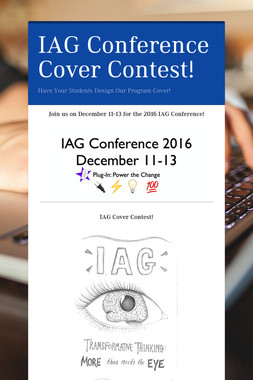 IAG Conference Cover Contest!