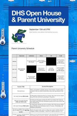 DHS Open House & Parent University