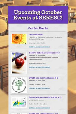 Upcoming October Events at SERESC!