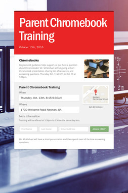 Parent Chromebook Training