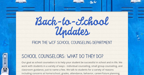 Back-to-School Updates | Smore Newsletters