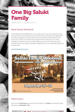 One Big Saluki Family