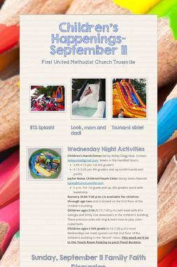 Children's Happenings-September 11