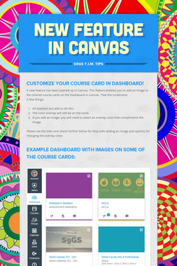 New Feature in Canvas