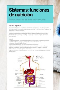 Sistemas: funciones de nutrición