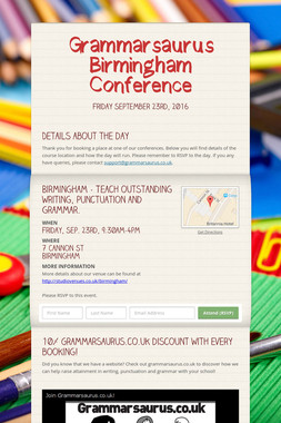 Grammarsaurus Birmingham Conference