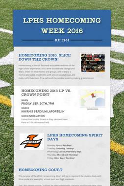 LPHS Homecoming Week 2016