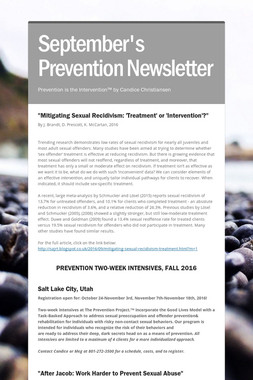 September's Prevention Newsletter