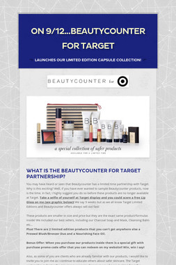 On 9/12...Beautycounter For Target