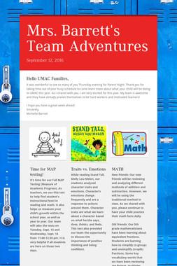 Mrs. Barrett's Team Adventures