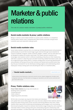 Marketer & public relations