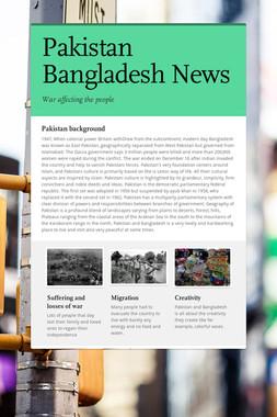 Pakistan Bangladesh News