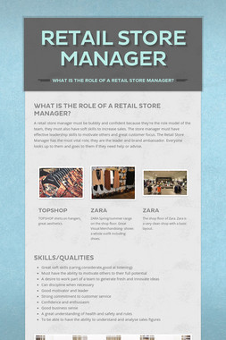 Retail Store Manager