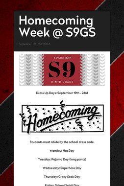 Homecoming Week @ S9GS