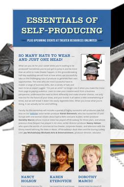 Essentials of Self-Producing