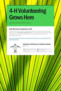 4-H Volunteering Grows Here