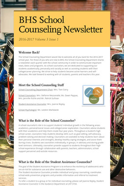 BHS School Counseling Newsletter
