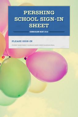Pershing School Sign-In Sheet