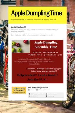 Apple Dumpling Time