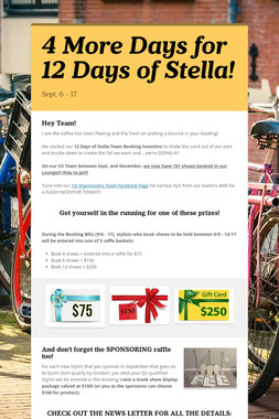 4 More Days for 12 Days of Stella!