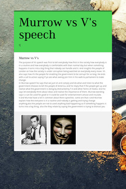 Murrow vs V's speech