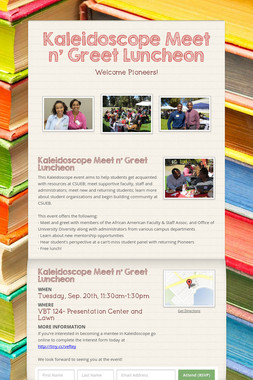 Kaleidoscope Meet n' Greet Luncheon