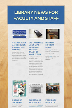 Library News for Faculty and Staff