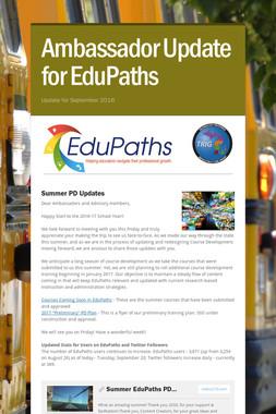 Ambassador Update for EduPaths