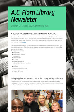 A.C. Flora Library Newsleter