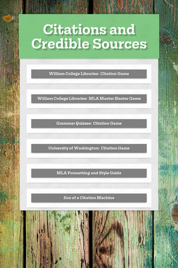 Citations and Credible Sources
