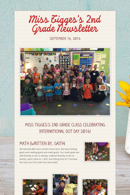 Miss Tigges's 2nd Grade Newsletter