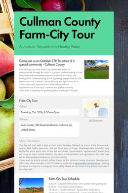 Cullman County Farm-City Tour