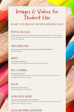Images & Videos for Student Use